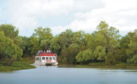 Longreach Explorer on the Thomson river
