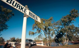 Signage for Bourke River Boulia