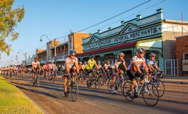 outback festival bike ride in Winton