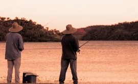 people fishing at Lake Moondara